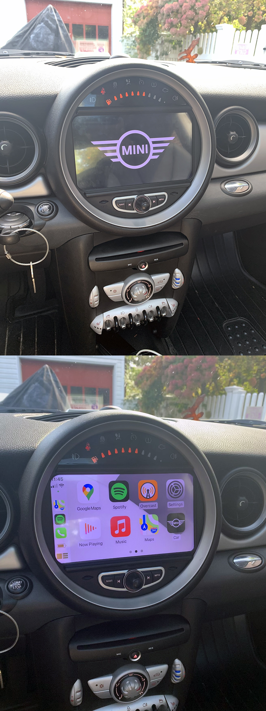 mini cooper 2006-2013 navigation head unit  carnaviplayer.com