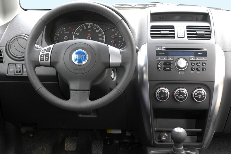 Fiat Sedici aftermarket navigation dvd player