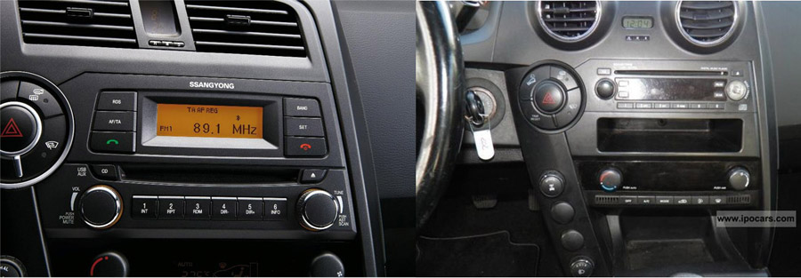 ssangyong actyon aftermarket navigation car stereo